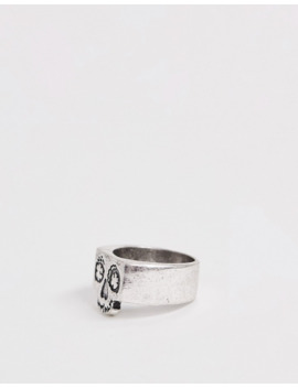 Classics 77 Skull Signet Ring In Silver by Classics 77