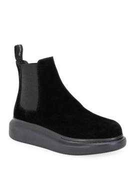 Oversized Gore Short Boots by Alexander Mc Queen