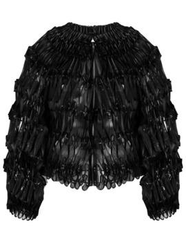 Ribbon Embellished Bomber Jacket by Comme Des Garçons Noir Kei Ninomiya