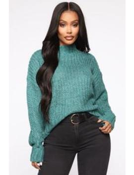 Lost In The Clouds Sweater   Jade by Fashion Nova