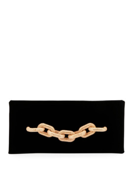 Velvet Pave Chain Clutch Bag by Tom Ford
