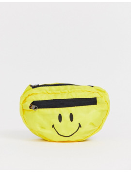 Chinatown Market Smiley Fanny Pack In Yellow by Asos
