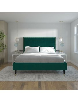Audrey Upholstered Platform Bed by Cosmo Living By Cosmopolitan