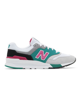 Grey & Green 997 H Sneakers by New Balance