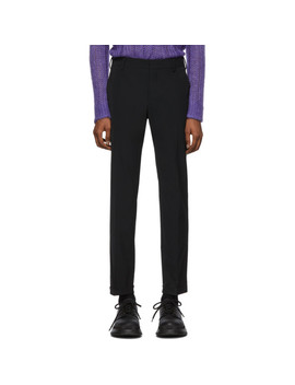 Black Techno Twill Trousers by Prada