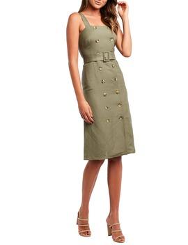 Belted Sheath Dress by Bardot