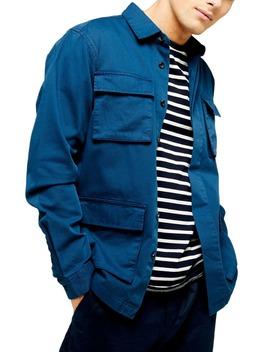Slim Fit Long Shirt Jacket by Topman