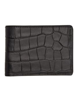 Black Croc Wallet by Dries Van Noten
