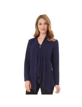 Women's Apt. 9® Fuzzy Jersey Button Drape Top by Apt. 9
