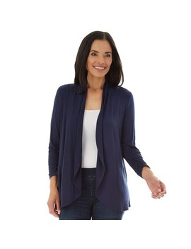 Women's Apt. 9® Ruched Sleeve Open Front Cardigan by Apt. 9