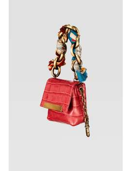 Animal Print Handkerchief Mini Handbag by Zara