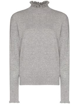 Cashmere Ruffle Detail Jumper by Chloé