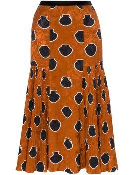 Tribal Print Jacquard Midi Skirt by Johanna Ortiz