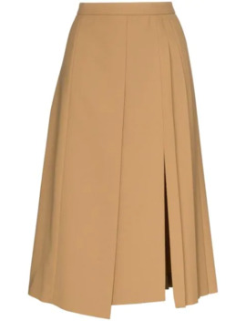 Pleated Wrap Around Midi Skirt by Joseph