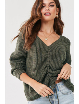 Ruched Drawstring Sweater by Forever 21