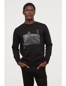 Reflective Print Sweatshirt by H&M