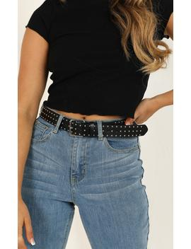 Settle Down Belt In Black And Silver by Showpo Fashion