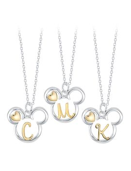 Mickey Mouse Icon With Initial Necklace | Shop Disney by Disney