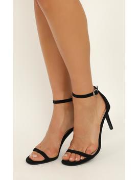 Billini   Jadore Heels In Black Micro by Showpo Fashion