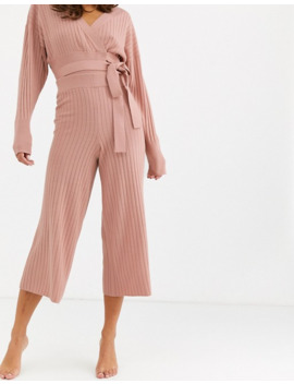 Asos Design Lounge Premium Knitted Rib Cropped Pants by Asos Design