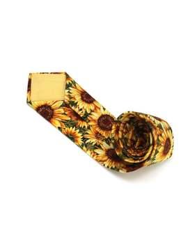 Mens Necktie Sunflower Floral Tie Flower Mens Tie Mens Ties Necktie Wedding Tc317 by Etsy