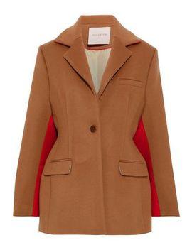 Two Tone Wool And Cashmere Blend Felt Coat by Roksanda