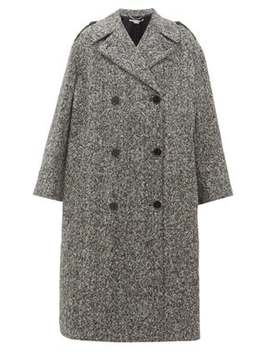 Flecked Wool Double Breasted Coat by Stella Mc Cartney