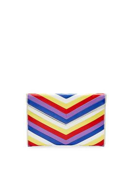 Chevron Quilted Leo Clutch by Rebecca Minkoff