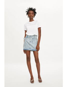 Cropped T Shirt With Front Slogan by Zara