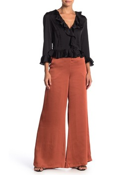 High Waisted Wide Leg Satin Pants by Do + Be