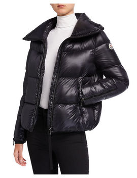 Bandama Zip Sleeve Puffer Coat by Moncler
