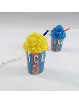 Scented Icee Inspired Necklace, Slushie Necklace, Miniature Food Jewelry, Cherry Icee, Stranger Things Necklace Gift Under 25 by Etsy