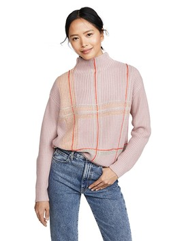 Violet Checkered Sweater by Line &Amp; Dot