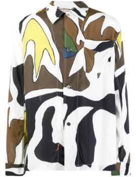 Long Sleeved Abstract Print Shirt by Our Legacy