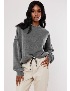 Gray Extreme Oversized Washed Sweatshirt by Missguided