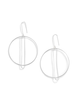 Art Deco Hoop Drop Earrings by Argento Vivo