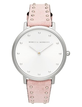 Major Stud Leather Strap Watch, 35mm by Rebecca Minkoff