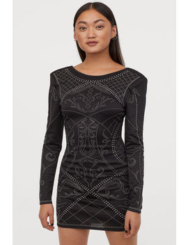 Fitted Dress With Studs by H&M