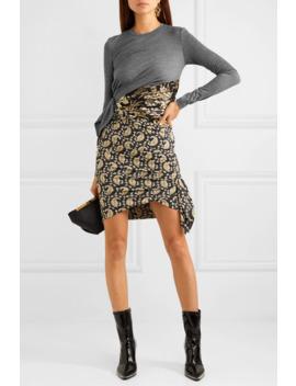 Belinda Wool Jersey, Brocade And Paisley Print Silk Blend Crepe Mini Dress by Altuzarra