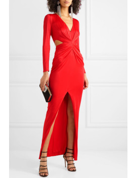 Sara Cutout Draped Satin Jersey Dress by Haney