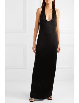 Open Back Satin Gown by Saint Laurent