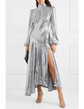 Clara Sequined Tulle Midi Dress by De La Vali