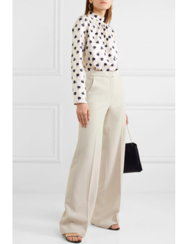 Distel Floral Print Silk Twill And Stretch Jersey Blouse by Max Mara