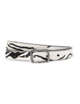 Zebra Print Calf Hair Belt by Saint Laurent