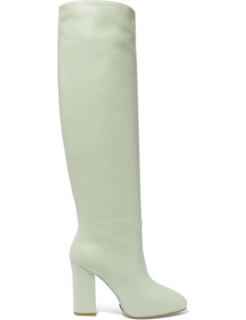 Leather Knee Boots by Dries Van Noten
