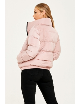 Her Road Nude Pink Puffer Jacket by Good For Nothing Womens