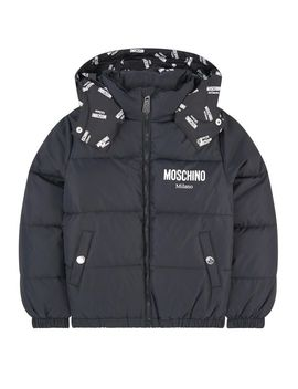 Down And Feather Padding Coat by Moschino