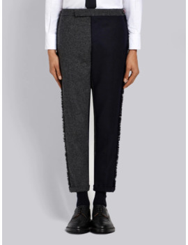 Frayed Edges Skinny Trouser by Thom Browne