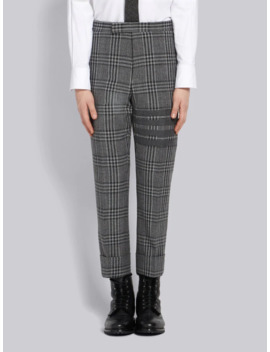 4 Bar Checkered Trousers by Thom Browne