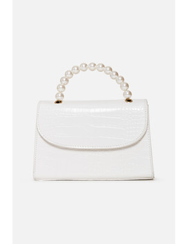 White Pearl Handle Bag by Luxe To Kill